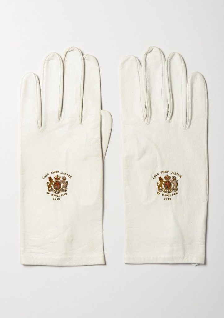 Lord Chief Justice's gloves